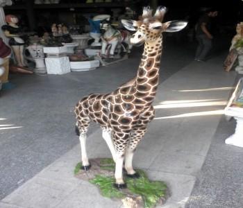 Kenya Zürafa Heykeli