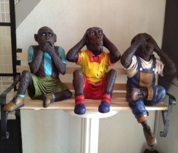 Üç Maymun Heykeli