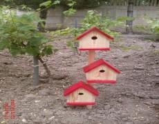 3 Lü Kuş Evi Ahşap