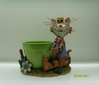 Oturan Kedi Heykeli