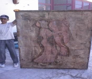 Antik Çalgıcı Kadın Rölyef