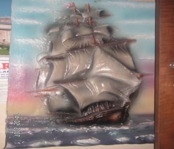 Yelkenli Gemi Rölyef