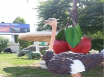 Fiberglas Deve kuşu Heykelleri