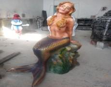 Dekoratif Deniz Kızı Heykeli