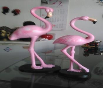 İkili Flamingo Heykeli