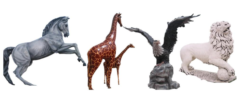 bahce heykeller, Fiberglas Hayvan Heykelleri
